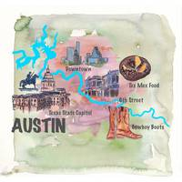 Austin_Texas Favorite Map with touristic_Highlight