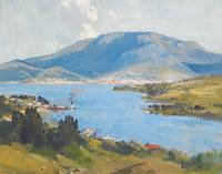 Blue Ocean coast, painting by Arthur Streeton