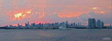 Miami Panoramic Sunset