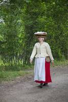 Tudor woman carrying basket