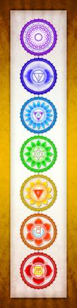 The Seven Chakras - Series VI Artwork I Golden Yel