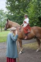 Tudor woman on horseback