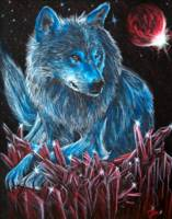 Wolf Spirit in Distant Galaxy