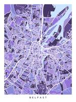 Belfast Northern Ireland City Map