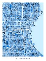 Milwaukee Wisconsin City Map