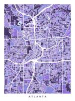 Atlanta Georgia City Map