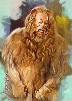 The Wizard of Oz Cowardly Lion art by Edward Vela