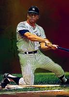 Mickey Mantle #34 Wall Art