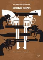 No916 My Young Guns minimal movie poster