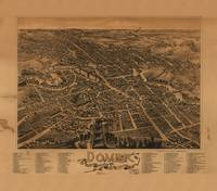 Aerial View of Dover, New Hampshire (1888)