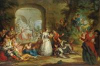 Charles Antoine Coypel Roland And The Marriage Of