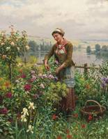 Daniel Ridgway Knight 1839-1924   IN THE GARDEN