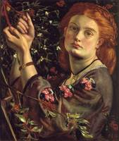 Dante Gabriel Rossetti hanging the mistletoe the f