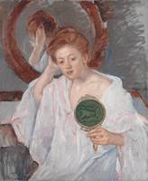 Denise at Her Dressing Table , Mary Cassatt