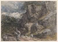 Driving Sheep in a Rocky Landscape by David Cox, c