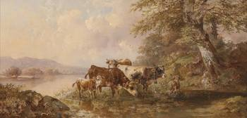 Edmund Mahlknecht cows on Seeufer