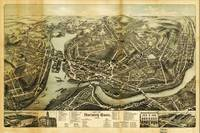 Aerial Map City of Norwich Connecticut (1876)