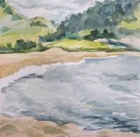 Carmel River watercolor