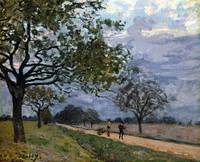 Alfred Sisley The Road from Versailles to Louvecie