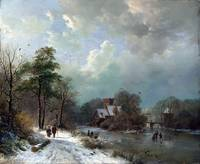 Barend Cornelis Koekkoek Winter Landscape, Holland