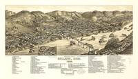 Bird's Eye View of Bellaire, Ohio (1882)