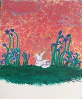 bunny butt painting