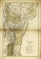 Map of Vermont by Carl Ernst Bohn (1796)