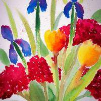 Bouquet Art Prints & Posters by Leanna Cymbala