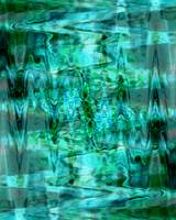 Turquoise Treasure Abstract