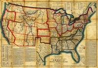 Bacon's Steel Plate Map of America (1863)