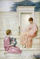 Henry Ryland two ladies playing musical instrument
