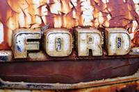 Rusty Old Ford Truck Emblem