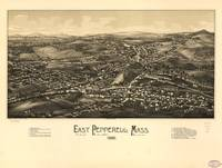 Aerial View of East Pepperell, Massachusetts (1886