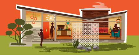 Mid Century Modern House gay women, Butterfly Roof
