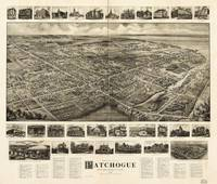 Bird's Eye View of Patchogue, New York (c1905)