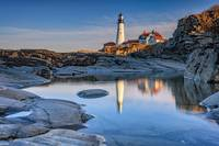 Afternoon Reflection at Portland Head Lighthouse