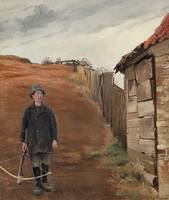 Laurits Andersen Ring , boy with a crossbow at the