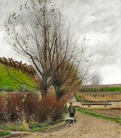 Laurits Andersen Ring, autumn weather a man with a