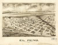 Aerial View of El Reno, Oklahoma (1891)