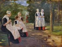 Max Liebermann in the garden of an orphanage in am