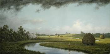 Newburyport Marshes, Approaching Storm by Martin J