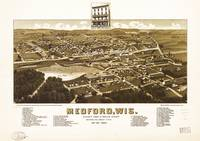 Aerial View of Medford, Wisconsin (1885)