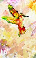 Hummingbird Modern Mixed Media