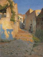 Peter William Ilsted , A Street Scene in Tunisia,