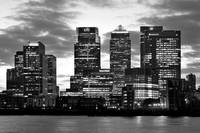 London Canary Wharf Monochrome