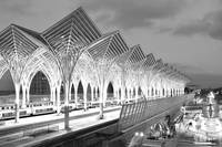 Gare Do Oriente Monochrome