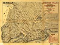 Street Map of Brooklyn, New York (1874)