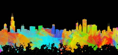 Chicago Skyline Silhouette I