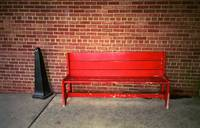 Red Bench Behind Stop & Shop 2018