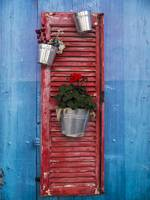 Decorative Red Shutter